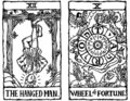 Two Tarot Cards outline v.6 Royalty Free Stock Photo