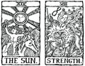 Two Tarot Cards outline v.8 Royalty Free Stock Photo