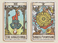 Two Tarot Cards v.6 Royalty Free Stock Photos