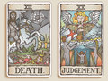 Two Tarot Cards v.9 Royalty Free Stock Photo