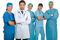 Two teams of doctors Royalty Free Stock Photo