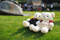 Two teddy bears Stock Images