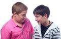 Two Teenage Boys Having Fun Is...