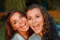Two teenage girls Royalty Free Stock Photo