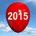 Two thousand fifteen on balloon shows year showing Royalty Free Stock Image