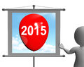 Two thousand fifteen on sign shows year showing Royalty Free Stock Photos