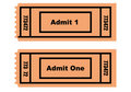 Two tickets Royalty Free Stock Image