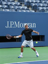Two times grand slam champion lleyton hewitt practices for us open flushing ny august at arthur ashe stadium at billie jean king Stock Photo