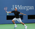 Two times grand slam champion lleyton hewitt practices for us open flushing ny august at arthur ashe stadium at billie jean king Stock Photography