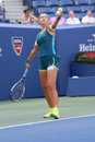 Two times grand slam champion victoria azarenka of belarus in action during us open fourth round match new york september at Stock Photos
