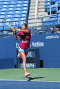 Two times grand slam champion victoria azarenka practices for us open at arthur ashe stadium flushing ny august billie jean Royalty Free Stock Images