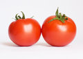Two tomatoes Stock Photo