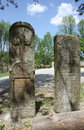 Two tombstones by the road in village belanovica in serbia Royalty Free Stock Images