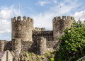 Two Towers of Conwy Castle Royalty Free Stock Photo