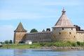 Two towers of the Oreshek fortress. Leningrad region, Shlisselburg, Russia Royalty Free Stock Photo