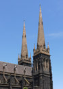 Two of the towers of Saint Patrick Stock Photography