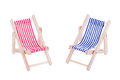 Two toy beach chairs Royalty Free Stock Photo