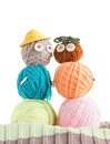 Two Toys Made Of Balls Of Yarn Stock Photography
