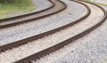 Two tracks railroad adjacent to hollywood fort lauderdale airport in dania florida Stock Photography