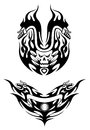 Two tribal bike tattoos Royalty Free Stock Images