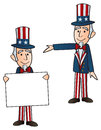 Two Uncle Sam Stock Images