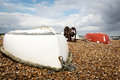 Two upturned row boats Royalty Free Stock Photo