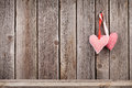 Two Valentines Day Hearts On R...