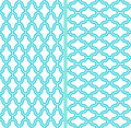 Two vector abstract lattice seamless patterns Stock Photo
