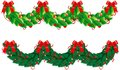 Two vector hristmas garlands (semicircle) Stock Image