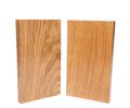 Two vertical boards acacia oak on a white background Royalty Free Stock Photo