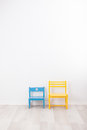 Two vintage child chairs Royalty Free Stock Photo