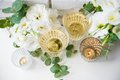 Two vintage glasses of champagne Royalty Free Stock Photo