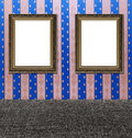 Two vintage golden ornament frames Stock Photography
