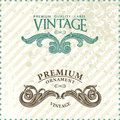 Two vintage styled premium quality ornate labels Royalty Free Stock Image