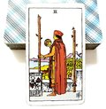 2 Two of Wands Tarot Card Physical Decisions Stay or Go Travel Over Seas