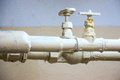 Two water pipes Royalty Free Stock Photo