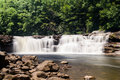 Two of the waterfalls at High Falls of Cheat Royalty Free Stock Photo