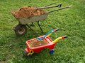 Two wheelbarrows Royalty Free Stock Photo