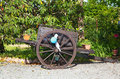 Two wheeled cart wheleed in a garden Royalty Free Stock Photo