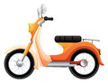 A two wheeled transportation illustration of on white background Stock Photos