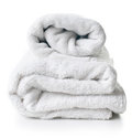 Two white terry towels Royalty Free Stock Photography