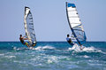 Two windsurfers in action Stock Photography