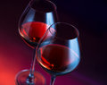 Two wineglasses angled Royalty Free Stock Photography