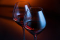 Two wineglasses in twilight Royalty Free Stock Image