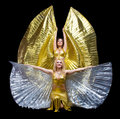 Two woman dance with wings Stock Images