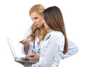 Two woman doctor and nurse Stock Photography