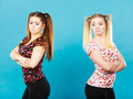 Two women being offended got the hump Royalty Free Stock Photo