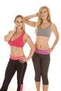 Two Women Sports Bras Fitness ...