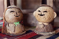 Two wooden doll in love Stock Photo