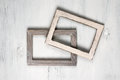 Two wooden photo frames Royalty Free Stock Photo